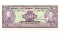 Billete 10 Bolívares de 1995 T8 - Numisfila