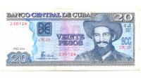 Billete de Cuba 20 Pesos 1998 Camilo Cienfuegos - Numisfila