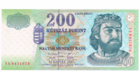 Billete de Hungría 200 Forint 1998 - Numisfila