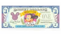 Billete de Disney 1 Dólar de 1993, Mickey Mouse - Numisfila
