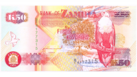 Billete de Zambia 50 Kwacha de 1992 - Numisfila