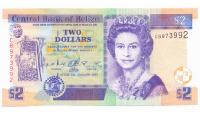 Billete Belice 2 Dolares 1999 - Numisfila