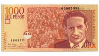 Billete de Colombia 1000 Pesos de 2001 - Numisfila