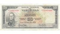 Billete 50 Bolívares Febrero 1972 T7 Serie T1682449 - Numisfila