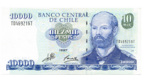 Billete Chile 10.000 Pesos 1997 Prat - Numisfila