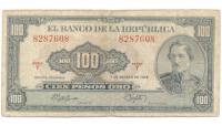 Billete Colombia 100 Pesos Oro 1958 Santander - Numisfila