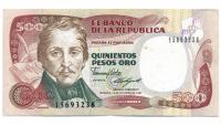 Billete Colombia 500 Pesos Oro 1987 - Numisfila