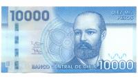 Billete de Chile 10.000 Pesos de 2013 - Numisfila