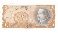 Billete Chile 10 Escudos 1970 J.M. Balmaceda - Numisfila
