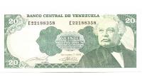 Billete 20 Bolívares Septiembre 1989 E8 Serial E22188358 - Numisfila