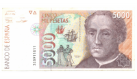 Billete España 5.000 Pesetas 1992 - Numisfila