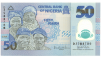 Billete Plástico Nigeria 50 Naira 2009 - Numisfila