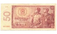 Billete Checoslovaquia 50 Korun 1964 - Numisfila