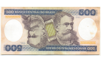 Billete Brasil 500 Cruzeiros 1981 - Numisfila