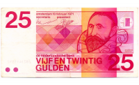 Billete Holanda 25 Gulden 1989 Jan Pieterszoon - Numisfila