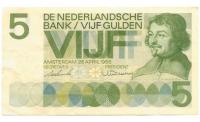 Billete Holanda 5 Gulden 1966 Vondel - Numisfila