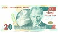 Billete de Turquía 20 Lira de 2005 - Numisfila