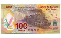 Billete Plástico México 100 Pesos 2007 (2010) - Numisfila