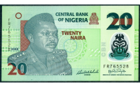 Billete Plastico Nigeria 20 Naira 2018 Murtala  - Numisfila