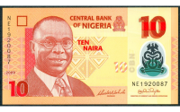 Billete Plastico Nigeria 10 Naira 2018 Alvan Ikoku - Numisfila