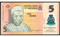 Billete Plastico Nigeria 5 Naira 2018 Tafawa - Numisfila