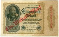 Billete Alemania 1 Millardo en 1000 Marcos 1923 - Numisfila