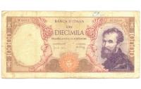 Billete Italia 10.000 Lire 1962 Michelangelo - Numisfila