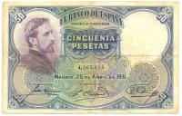 Billete España 50 Pesetas 1931 Rosales Gallinas - Numisfila