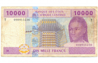 Billete Africa Central 10000 Francs 2002 Dix Mille Francs - Numisfila