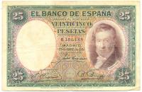 Billete España 25 Pesetas 1931 Vicente Lopez - Numisfila