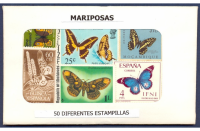 Mariposas 50 Estampillas diferentes usadas - Numisfila