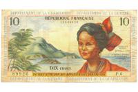 Billete de Antillas Francesas 10 Francs de 1964 - Numisfila