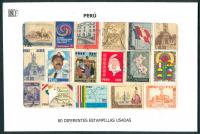 Peru 80 Estampillas diferentes usadas - Numisfila