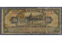 Banca Privada Billete 20 Bs 1936 Bco Venezuela - Numisfila