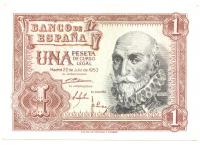 Billete España 1 Peseta 1953 Marqués de Santa Cruz - Numisfila