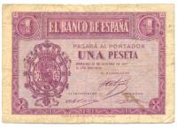 Billete España 1 Peseta 1937 - Numisfila