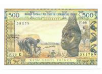 Billete Premium Africa Occidental 500 Francs 1961-1964 - Numisfila