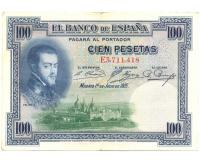 Billete España 100 Pesetas 1925 Felipe II - Numisfila