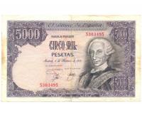 Billete España 5.000 Pesetas 1976 Carlos III - Numisfila