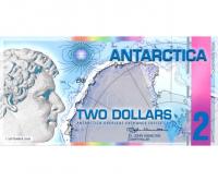 Billete Plastico Antartica 2 Dolares 2014 - Numisfila
