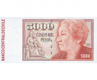 Billete de Chile 5000 Pesos 2005 - Numisfila