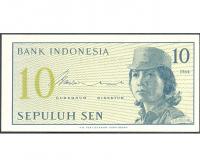 Billete Indonesia 10 Sen 1964 - Numisfila