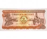 Billete Mozambique 50 Meticais 1986 - Numisfila