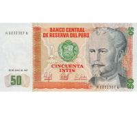 Billete de Perú 50 Intis 1987 - Numisfila