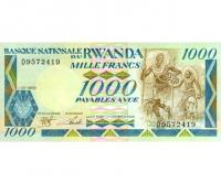 Billete Ruanda 1.000 Francos 1988 Gorilas - Numisfila