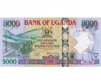 Billete Uganda 5000 Shilingi 2009 - Numisfila