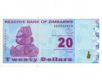 Billete Zimbabwe 20 Dolares 2009 - Numisfila