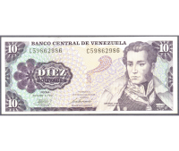 Billete 10 Bolívares 1981 Serial C8 - Numisfila