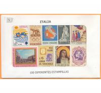 Italia 100 Estampillas diferentes usadas - Numisfila