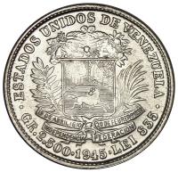 Bella Moneda ½ Bolivar 1945 - 50 Céntimos - Numisfila
